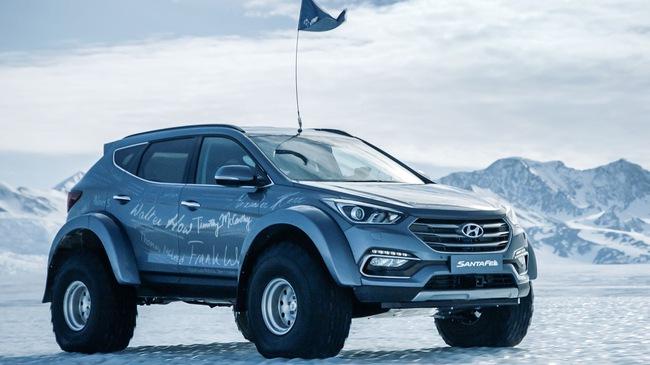 Đây là chiếc Hyundai Santa Fe đầu tiên vượt qua châu Nam Cực