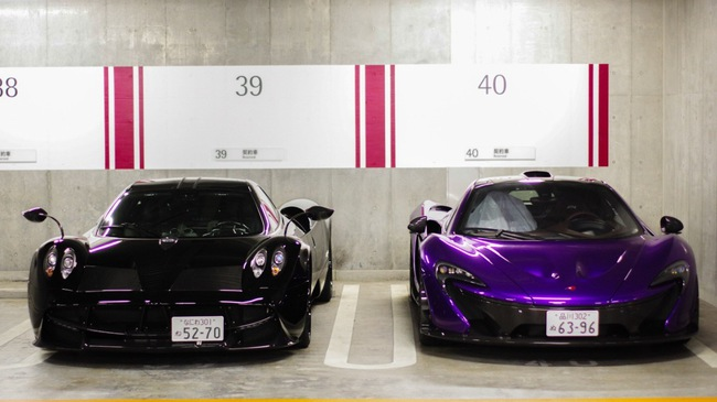 """Đại gia Nhật gây choáng với """"bộ áo"""" tím cho siêu xe McLaren P1"""