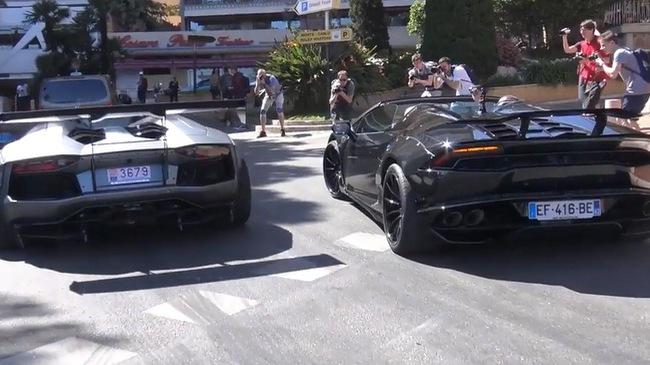 Cặp đôi Lamborghini độ Liberty Walk gây náo loạn tại thiên đường siêu xe