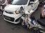 Sài Gòn: Kia Morning bị Honda CUB đâm ngang, hư hỏng nặng