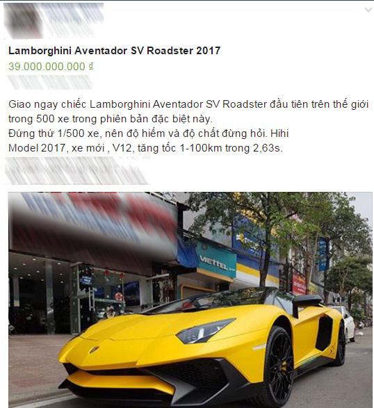 Lamborghini Aventador SV mui trần độc nhất Việt Nam có giá thách cưới 39 tỷ Đồng - Ảnh 1.