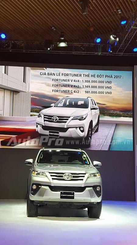 Toyota Fortuner 2017 ra mắt Việt Nam, giá từ 981 triệu Đồng - Ảnh 2.