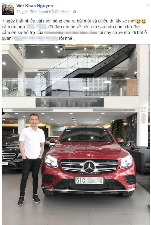 Nam ca sỹ Khắc Việt tậu xe tiền tỷ Mercedes-Benz GLC sau nửa năm chờ đợi - Ảnh 1.
