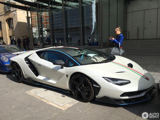 Siêu phẩm Lamborghini Centenario của Hoàng gia Qatar chăm chỉ đánh bóng mặt đường - Ảnh 4.