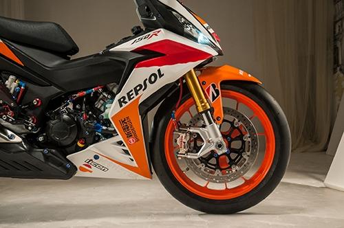 Honda Winner 150 độ theo phong cách mô tô đua tại Việt Nam được lên báo Tây - Ảnh 3.