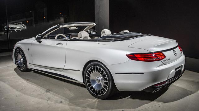 Bắt gặp dàn xe siêu sang Mercedes-Maybach S650 Cabriolet ngoài đời thực - Ảnh 4.