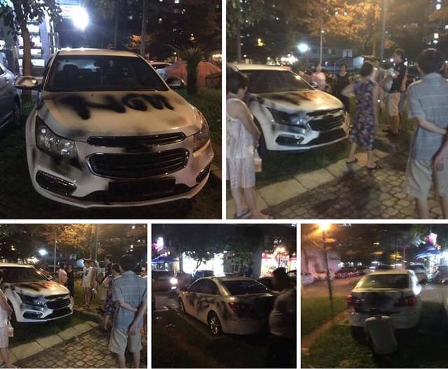 Đà Nẵng: Đỗ trên vỉa hè, ô tô bán tải Mazda BT-50 bị sơn chằng chịt quanh xe - Ảnh 3.