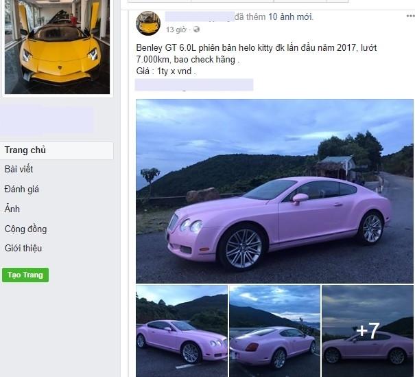 Cư dân mạng xôn xao với chiếc Bentley Continental GT màu hồng có giá rao bán hơn 1 tỷ Đồng - Ảnh 3.