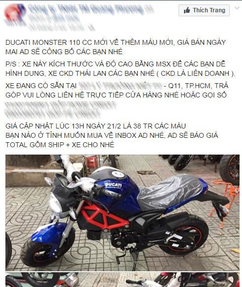 Xôn xao với Ducati Monster 110 giá 38 triệu Đồng tại Việt Nam - Ảnh 1.