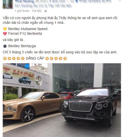 Đại gia Thanh Hóa tậu thêm hàng khủng Bentley Bentayga - Ảnh 2.