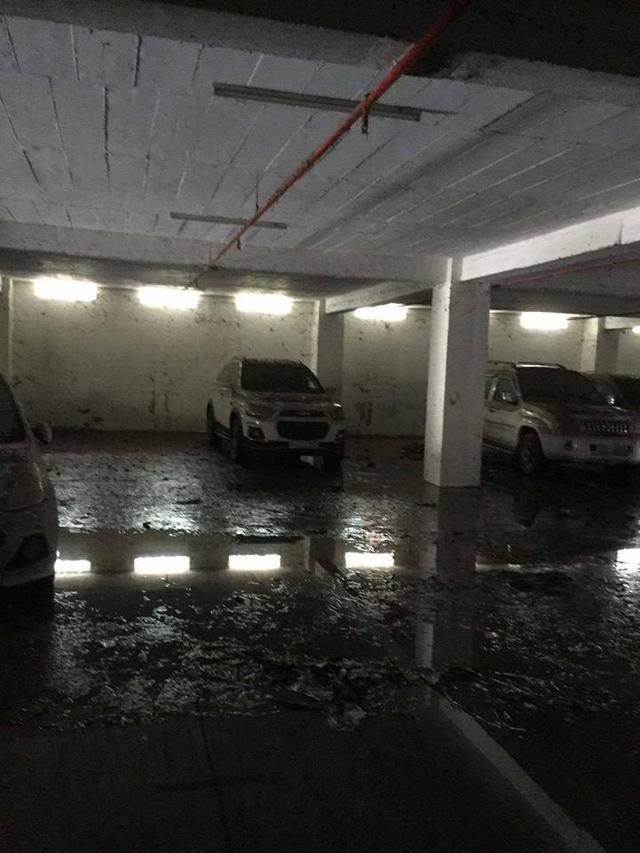 Mưa lớn kéo dài tại Bà Rịa - Vũng Tàu khiến hàng loạt ô tô chết đuối trong hầm chung cư - Ảnh 6.