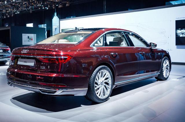 Bắt gặp sedan hạng sang cỡ lớn Audi A8L 2018 chạy ngoài đường phố - Ảnh 4.