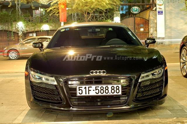 Audi R8 V10 Spyder độc nhất Việt Nam của đại gia Trung Nguyên bị bắt gặp tại Bình Phước - Ảnh 3.