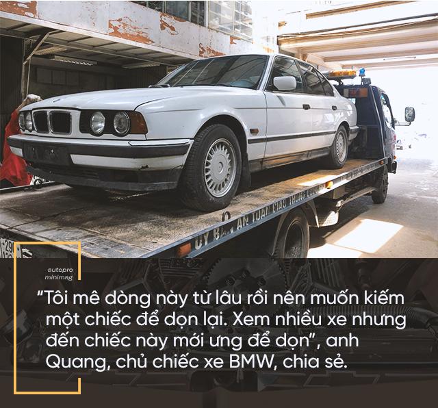 Hành trình lột xác BMW 525i cũ nát tuổi đời hơn 2 thập kỷ của nhóm người trẻ Việt - Ảnh 2.