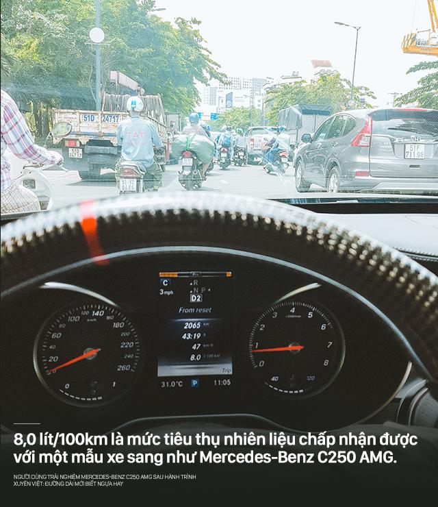 Người dùng trải nghiệm Mercedes-Benz C250 AMG sau hành trình xuyên