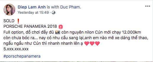 Người đẹp Diệp Lâm Anh nói: Lỗ như ngất đi khi rao bán Porsche Panamera 2018 chạy lướt - Ảnh 5.