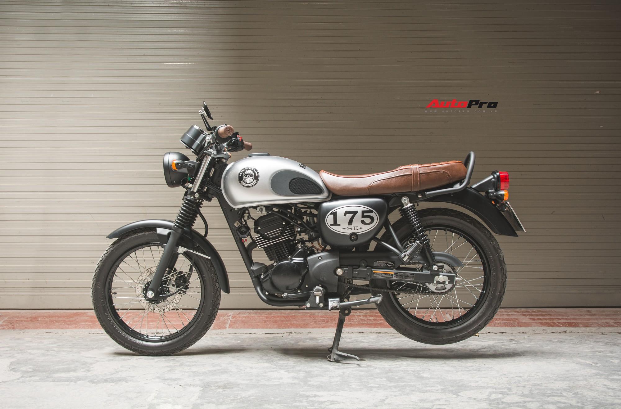 Xe mô tô cổ điển Kawasaki W175 bất ngờ giảm giá tại Việt Nam, cao