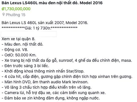 Sự thật về chiếc Lexus LS460L sản xuất 2007, model 2016 đang gây chú ý trên thị trường xe cũ - Ảnh 5.