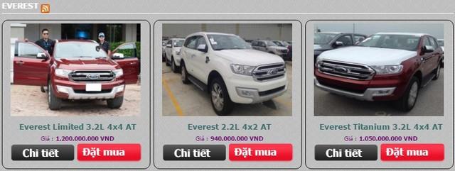 Bảng giá của Everest thế hệ mới do một đại lý Ford tại Hà Nội đăng lên. Tuy nhiên, đây chỉ là giá tạm tính chứ không phải mức giá chốt cuối cùng.