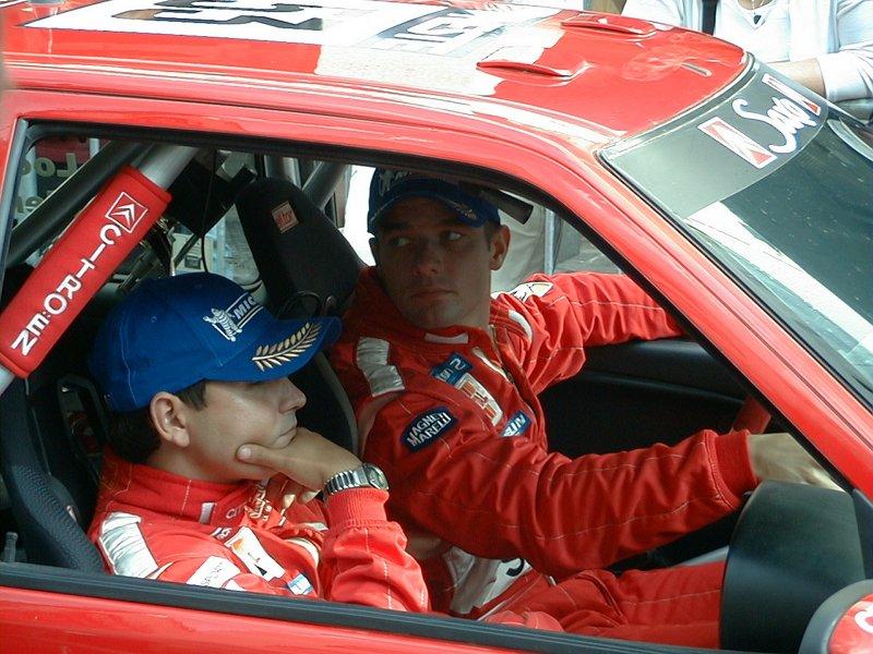 Sebastien Loeb tại giải đua Rally năm 2001.