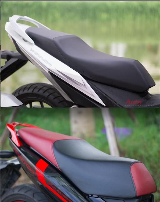 Yên xe là điểm trừ của Honda Winner. Trong khi đó, người ngồi trên Yamaha Exciter sẽ thấy thoải mái hơn dù độ cao yên của hai xe là như nhau.