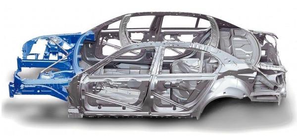 Kết cấu unibody, khung xe và gầm bệ liền khối.