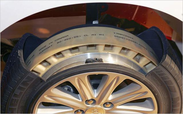Lốp run-flat phụ trợ.