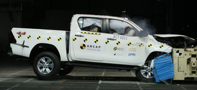 ANCAP dựa trên Toyota Hilux 2016 để đưa ra điểm số an toàn của Fortuner thế hệ mới.