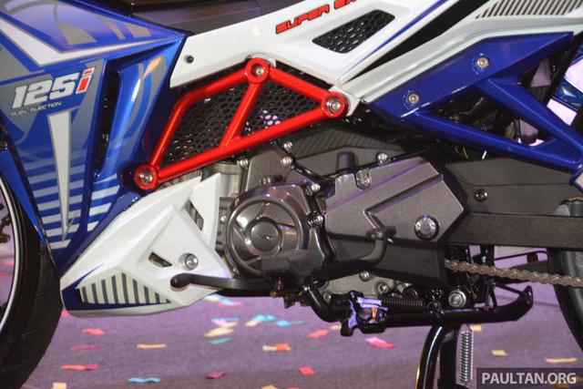 Trái tim của SYM Sport Rider 125i là động cơ xy-lanh đơn, 4 kỳ, SOHC, làm mát bằng gió, dung tích 123 cc. Động cơ tạo ra công suất tối đa 9,5 mã lực tại vòng tua máy 8.000 vòng/phút và mô-men xoắn cực đại 10,8 Nm tại vòng tua máy 5.500 vòng/phút.