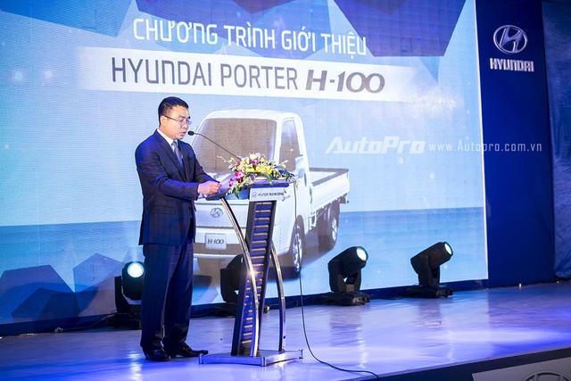 Ông Lê Ngọc Đức, Tổng giám đốc Hyundai Thành Công, phát biểu giới thiệu mẫu xe tải nhẹ Porter H-100.