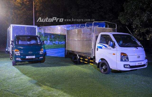 Mẫu xe tải nhẹ Hyundai Porter H-100 được sản xuất theo tiêu chuẩn cho xe du lịch và phần cabin hàn hoàn toàn bằng robot tự động.
