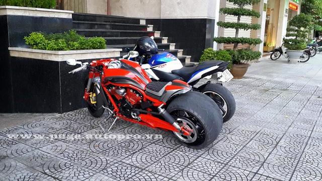 """Ngắm loạt xe mô tô """"bánh béo"""" hội tụ tại đại hội motor Đà Nẵng 6"""