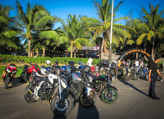 Ngoài những chiếc mô tô độ độc nhất Việt Nam ngày hội Vietnam Bike Week 2016 còn mang đến nhiều dòng xe phân khối lớn khác nhau.