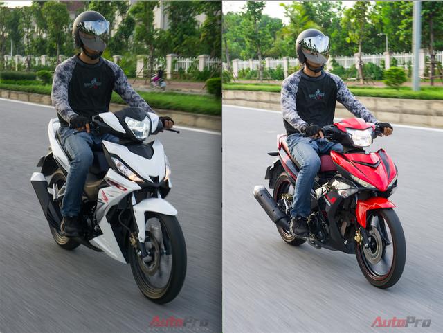 Cầm lái cả hai mẫu xe côn tay này có thể thấy Yamaha Exciter tăng tốc từ vị trí đứng yên nhanh hơn so với đối thủ. Bù lại, Honda Winner lại nhanh đạt vận tốc tối đa hơn mẫu xe cạnh tranh.