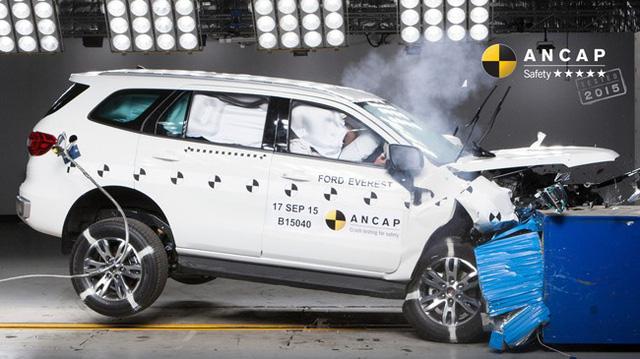 Toyota Fortuner và Ford Everest 2016 đều đạt điểm an toàn tối đa