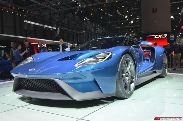 Siêu xe Ford GT tại triển lãm Geneva 2015.