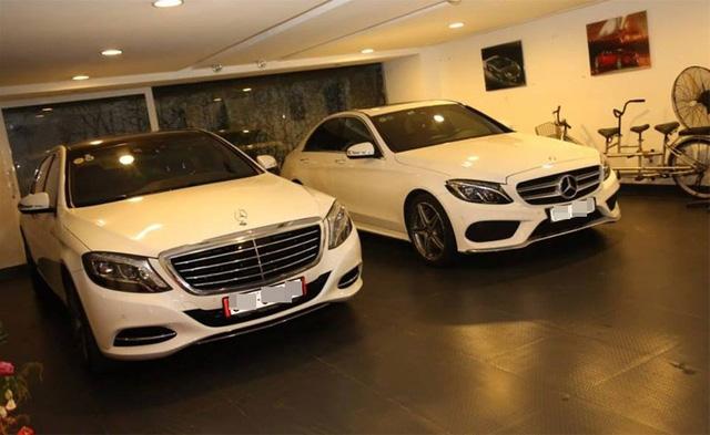 Chiếc Mercedes-Benz C300 Coupe được đỗ ở nơi giống hệt gara nhà Cường Đô-la như trong ảnh trên. Ảnh: Facebook