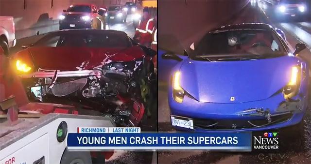 Cặp đôi siêu xe Lamborghini Huracan và Ferrari 458 Italia gặp tai nạn trong đường hầm - Ảnh 1.