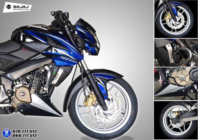 Xe naked bike Bajaj Pulsar 200NS phiên bản giới hạn ra mắt tại nước bạn Campuchia - Ảnh 1.