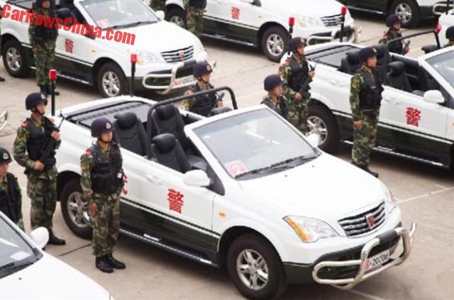 Xe tuần tra mui trần chuyên dụng của lực lượng cảnh sát Trung Quốc - Ảnh 4.
