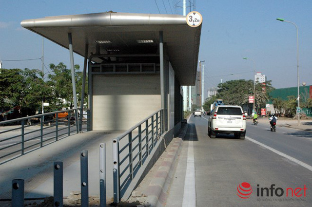 Mục sở thị tuyến buýt nhanh Hà Nội sắp vận hành - Ảnh 1.