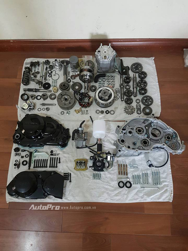 Biker Hà Thành chi 230 triệu để hồi sinh xe hai kỳ Honda LS 125R nguyên bản - Ảnh 2.