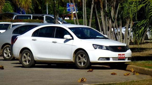 Không chỉ có xe Nga và xe Mỹ, tại Cuba còn cả những mẫu xe của Trung Quốc. Điển hình có lẽ phải nói đến chiếc xe đời mới Geely Emgrand EC7 được sản xuất vào năm 2009. Được biết những mẫu xe này được nhập khẩu nhằm cho thuê hoặc để phục vụ cho chính phủ Cuba. Mẫu xe này được trang bị động cơ 1.5L và hộp số vô cấp CVT.
