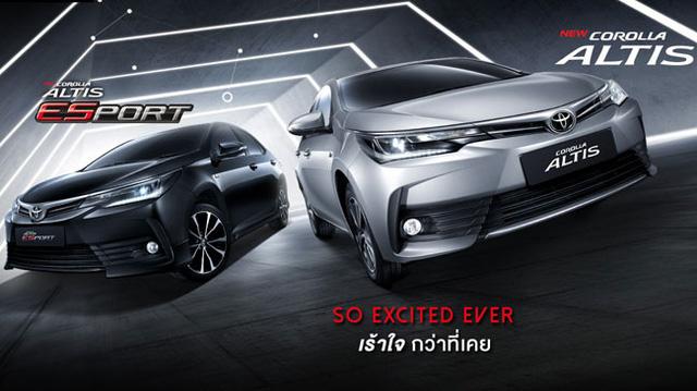 Toyota Corolla Altis 2017 sẽ về Việt Nam ra mắt tại Thái Lan, giá từ 508 triệu Đồng
