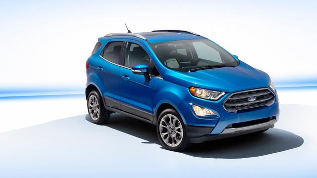 Hình ảnh của mẫu SUV đô thị Ford EcoSport 2018 dành cho thị trường Mỹ đã bất ngờ xuất hiện trên mạng. Dự kiến, Ford EcoSport 2018 sẽ chính thức trình làng tại triển lãm Los Angeles năm nay, khai mạc trong tuần này.