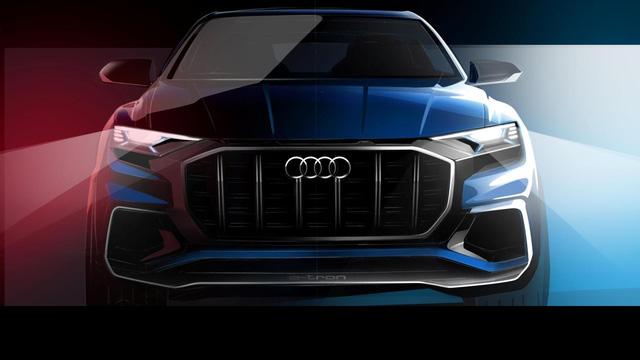 Audi Q8 E-tron, đối thủ của BMW X6, được hé lộ chân dung - Ảnh 1.