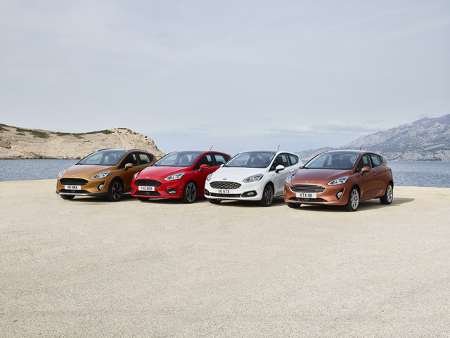 Bước sang thế hệ mới, Ford Fiesta được chia thành 4 bản trang bị khác nhau là Titanium, ST-Line, Vignale và Active. Mỗi bản lại có phong cách thiết kế khác nhau để tạo sự đa dạng và nổi bật.