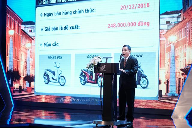 Honda SH300i ABS chính hãng có giá 248 triệu Đồng tại Việt Nam.