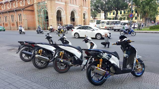 Được biết, tổng chi phí độ chiếc Honda SH150i này lên đến 200 triệu Đồng.