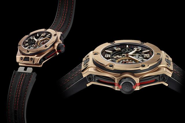 Chiếc đồng hồ Hublot BigBang Ferrari Unico King Gold có số lượng giới hạn 500 chiếc và mức giá 42.000 USD.
